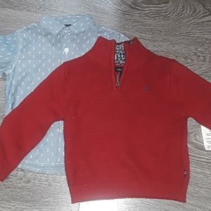 NWT button down and sweater